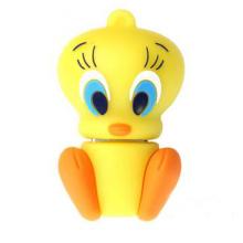 Cute Yellow Duck USB Flash Drive personalizada 3D Pen Drive 1 GB, 2 GB, 4 GB, 8 GB, 16 GB, 32 GB