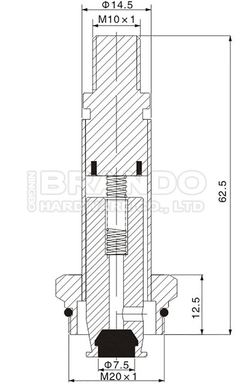 Dimension of BAPC214548001 Armature Assembly: