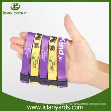 Polyester benutzerdefinierte Mode abnehmbare Sport Armbänder