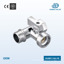 """Chrome Plated Brass Angle 1/2"""" Inch Valve with Ce Certificate"""