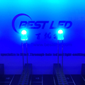 3 mm 450nm 455nm 460nm Blauwe LED 80 graden