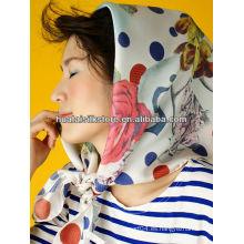90x90cm impresión digital personalizado diseño bufanda de seda París