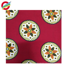 Wholesale pure polyester african super wax print woven fabric