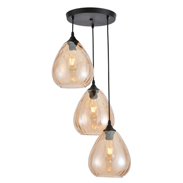 Abat-jour en verre suspension vintage suspension
