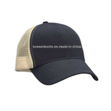 Custom Made Cotton Plain Black Trucker Style Baseball Cap Sports Hat
