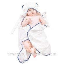 Serviette de Bébé avec Fibres de Bambou Organiques Super Douces Capuchon, Absorbant, Hypoallergénique, Antibactérien et Sans Produits Chimiques