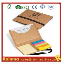 Eco Memo Pad con bolsillo para tarjetas de presentación