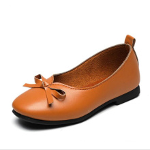 Wholesale PU casual knot children walking kids loafer shoes