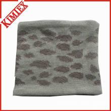 Акриловый жаккардовый шейный платок с подкладкой из флиса