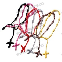 Mix cores baratos corda corda atado rosca fio rosário para mulheres e homens