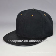 blank leather flat bill snapback caps