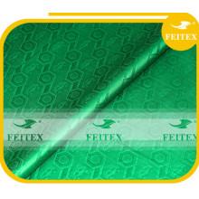 Wholesales Nigeria Shadda 100% Cotton Guinea Brocade Ladies Bazin Fabric Green Boubou