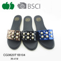 2017 Ladies Fancy Beautiful Pu Slippers