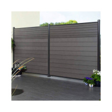 Recyclable & Weather Resistant WPC Garden Fence Wood Plastic Composite Fence