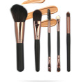 5 Stück Travel Mini Ziegenhaar Make-up Pinsel Set