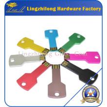 Colorful Metal Key Shape Flash Driver USB