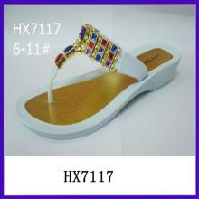 Sandalias calientes de la sandalia de las señoras del tirón de la venta para las mujeres sandalias planas para las señoras