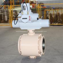 Válvula de bola motorizada montada en muñón