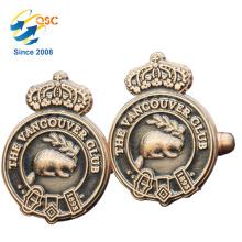 Impressão de alta qualidade personalizado botão de punho do logotipo para homens