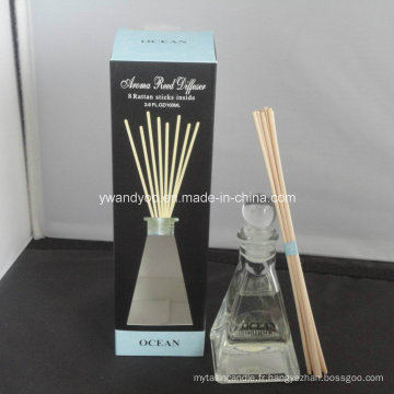 8 Rattan Sticks Ocean Aroma Home Reed Diffuseur en bouteille en verre