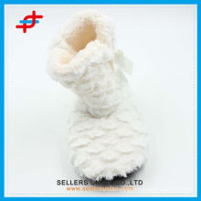 Custom Mute Cute Fluffy Bow Cotton Slippers Home Cotton Boots/Home Indoor Boots Soft House Slippers