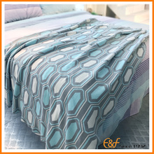4-color Modern Geometric Cotton Throw  Jacquard Blanket