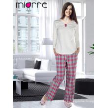Miorre OEM de algodón de calidad turco de algodón impreso pijamas de dormir de verano Set