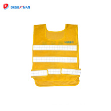 Top grade high quality yellow workwear hi vis safety vest