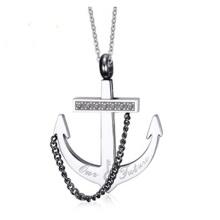 Mode d'ancrage diamant acier inoxydable Collier pendentif