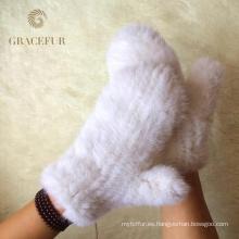 Proveedor rápido guantes de piel real fantasía