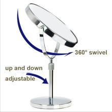 Espejo de maquillaje de mesa ajustable de baño al por mayor con lupa