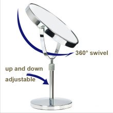 Wholesale Bathroom Adjustable Table Makeup Mirror with Magnifier