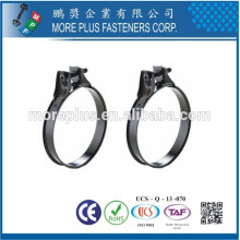 Taiwan en acier inoxydable en forme de rouleau Large Heavy Duty Schlauchklemmen Tuyau Clamp
