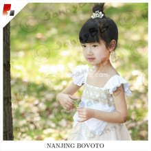princess girl dress girls white lace pink