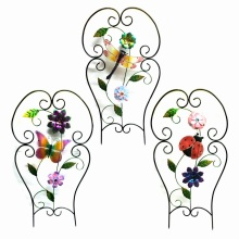 Wholesale Metal Fence Craft with Cloth Flower Garden Decoration