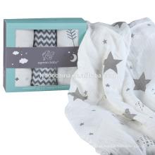 Musselina 100% Algodão Baby Swaddle Cobertores Musselina Cobertor Swaddle