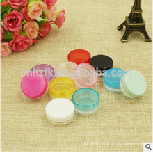 5g sample plastic jar for cosmetic powder/small bottle