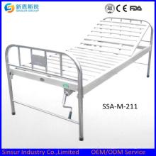 China Acero inoxidable barato una función manual de camas de hospital