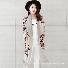 Mulheres moda viscose de malha de nylon franja inverno cardigan (yky2068)