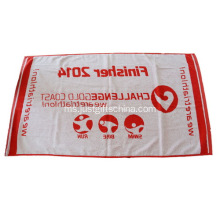 100% Kapas Custom Printed Cotton Red Towel