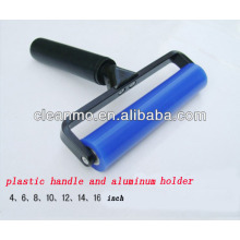 Manufacturer blue silicon sticky/tacky lint rollers with aluminium handle