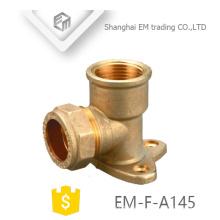 EM-F-A145 OEM ODM codo de 90 grados que reduce la instalación de tuberías de cobre amarillo