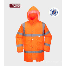 men's gorgeous orange reflective hi vis used work uniforms safety workear