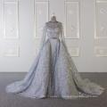 Baiyi Custom made gray bling bling luxury wedding gown 2018 WT543