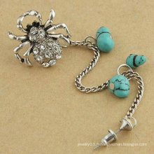 Alors mignon Spider Crystal Ear Cuff Individual Vintage Vintage Alloy Ear Clip Avec Turquoise Earring Jewelry For Woman EC25