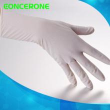 Медицинские Устранимые Простерилизованные хирургические перчатки из латекса с присыпкой
