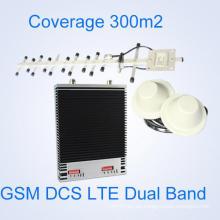 Doble banda dcs WCDMA 3G4g señal de refuerzo, 1800 2100MHz doble banda de señal repetidor, 3G Lte señal amplificador