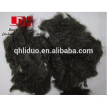 desechos de lana negra