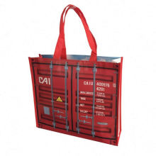 Reusable promotional PP woven zipper tote shopping bag