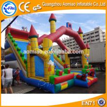 2016 Corrediça Inflável Gigante Comercial, Grande Slide Inflável Seca Para Crianças